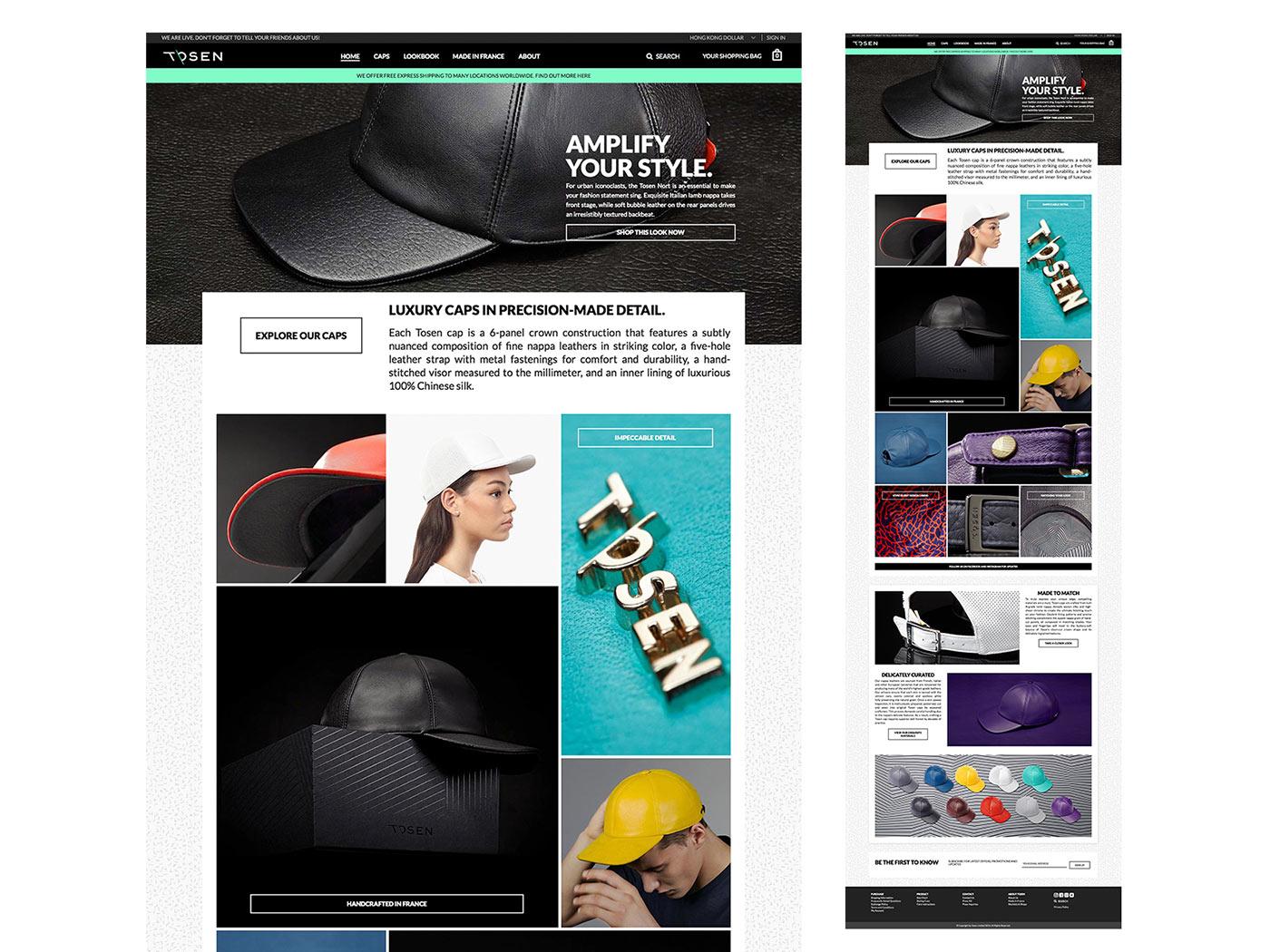 Tosen Caps  Website - Envary fa7625b8cfa